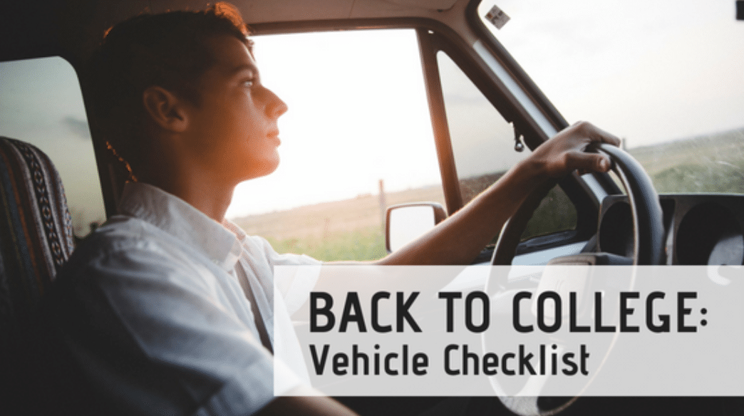 Back to College: Vehicle Checklist
